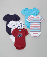 Bon Bebe Red & Blue 'Future MVP' Bodysuit Set - Infant
