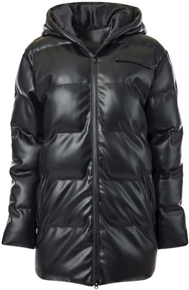 Hilary Macmillan Faux Leather Puffer