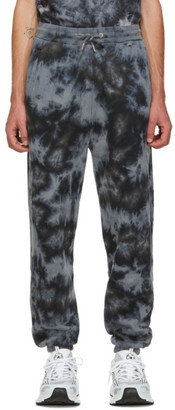 Han Kjobenhavn Grey Tie-Dye Logo Lounge Pants