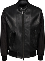 Drome Leather Zipped Bomber