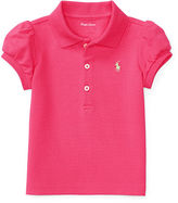 Ralph Lauren Puff-Sleeve Cotton Polo Shirt