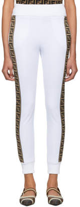 Fendi White Forever Band Lounge Pants