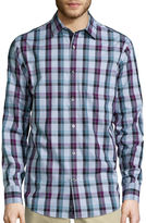 Claiborne Long-Sleeve Purple Woven Shirt