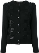 Marc Jacobs embroidered classic checkered cardigan - women - Wool - M