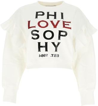 Philosophy di Lorenzo Serafini Philosphy Di Lorenzo Serafini Cropped Cut Sweatshirt