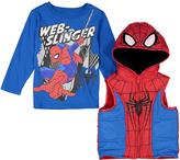 Children's Apparel Network Spider-Man Tee & Hooded Vest - Toddler