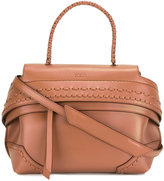 Tod's woven panel tote bag - women - Leather - One Size