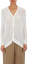 Pas De Calais Women's Tissue-Weight Cardigan-WHITE
