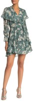 Diane von Furstenberg Simone Silk Blend Ruffle Dress