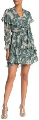 Diane von Furstenberg Simone Silk Blend Ruffle Dress