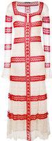 Alexander McQueen long lace dress - women - Silk/Polyamide/Spandex/Elastane/Viscose - S