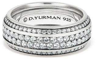 David Yurman Exotic Stone Streamline Pavé Band Ring with Gray Sapphire