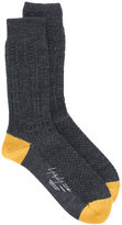Yohji Yamamoto contrast detail socks