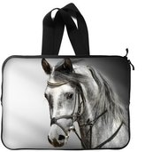 Horse Laptop Sleeve Perfect Running Horse Black Laptop Sleeve Fits Laptop 13 inch/ MacBook Air -Two Sides With Handle