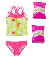 Jump N Splash Toddler Girls' Susie Seashell TwoPiece Swimsuit w/ Free Floaties (2T-3T) - 8143025