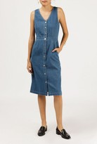 Azalea Sleeveless Button Down Denim Dress