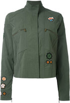 Tomas Maier patched shirt jacket - women - Cotton/Spandex/Elastane - 6