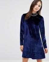 Brave Soul Velvet Skater Dress