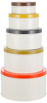 Orla Kiely Raised Stem Kitchen Storage Tin Canisters, Set of 5