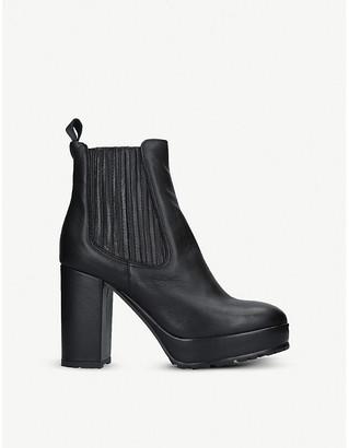 Kurt Geiger London Spice platform leather boots