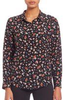 The Kooples Flower Print Silk Shirt