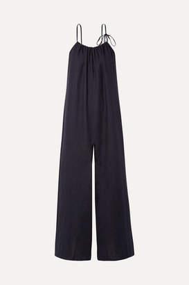 Mansur Gavriel Linen Jumpsuit - Midnight blue