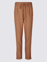 M&S Collection Drawstring Tapered Leg Trousers