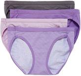 Hanes Ultimate Cotton Stretch Bikini Panties - 4pk