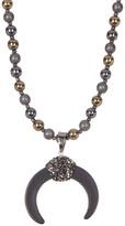 Natasha Accessories Long Beaded Horseshoe Necklace