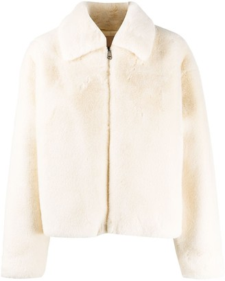 Twin-Set Zipped Faux-Fur Jacket