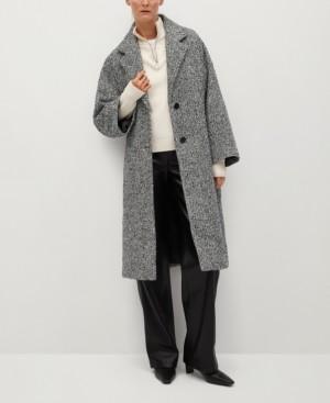 MANGO Women's Oversize Wool Coat