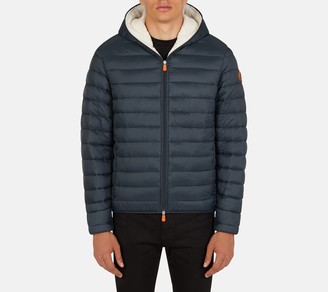 Save The Duck Men's Fleece Lined Puffer Jacket with Hood - Giga
