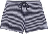 Skin - Striped Pima Cotton And Modal-blend Pajama Shorts - Midnight blue