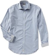 Thomas Dean Box Check Long-Sleeve Woven Shirt