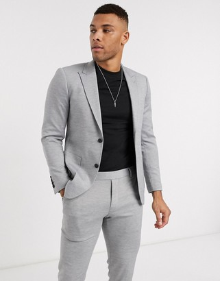 ONLY & SONS soft deconstructed blazer in grey