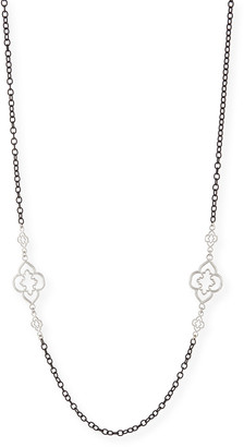 """Armenta Heraldry Scroll Cable Chain Necklace, 37"""""""