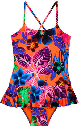 Vilebrequin Grilly Palm Leaf One-Piece Swimsuit, Size 2-14