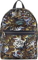 Kenzo Mens Black Printed Luxury Flying Tiger Backpack