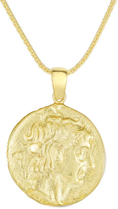 Sphera Milano 18K Over Silver Coin Necklace