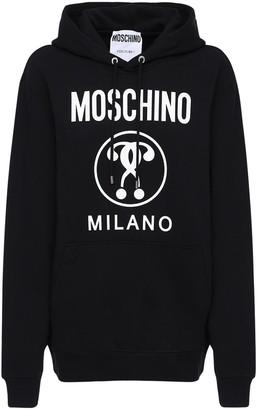 Moschino Oversize Cotton Jersey Sweatshirt Hoodie