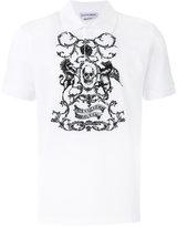 Alexander McQueen skull print polo shirt - men - Cotton - S