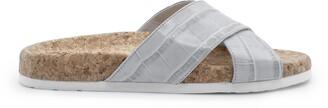 Italeau Morena Croc Embossed Waterproof Slide Sandal