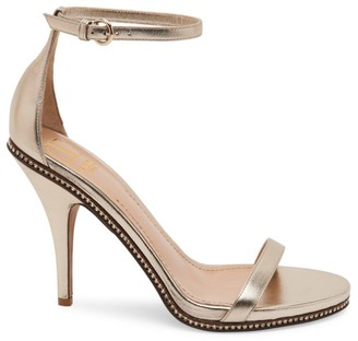 Valentino Starcarpet Metallic-Leather Ankle Strap Sandal