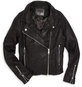 Blank NYC Girl's Black Cat Moto Jacket