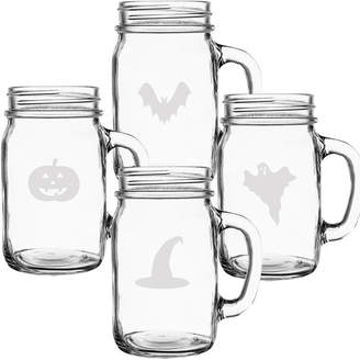 Cathy's Concepts Cathys Concepts Halloween Set Of Four 16.5Oz Mason Drinking Jars