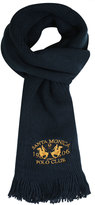 Yours Clothing SANTA MONICA Navy Knitted Scarf With Tassels