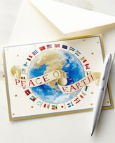 Caspari Peace on Earth Printed Cards with Envelopes, Set of 16