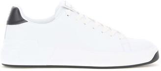 Balmain B COURT LEATHER SNEAKERS 44 White, Black Leather