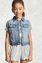 Forever 21 FOREVER 21+ Girls Denim Vest (Kids)