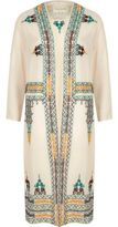 River Island Womens Cream sheer embroidered kimono